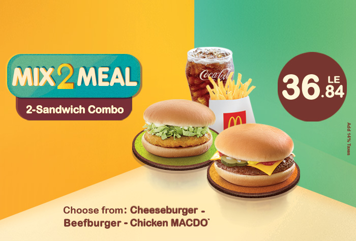 Mix 2 Meal - 2 Sandwiches Combo